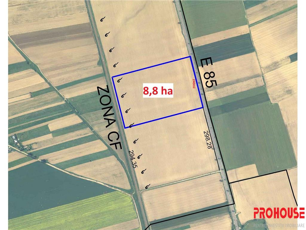 Teren E85  Dumbrava  8,88 hectare  COMISION 0%