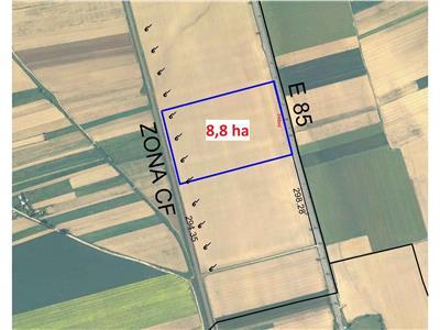 Teren E85 - Dumbrava - 8,88 hectare - COMISION 0%